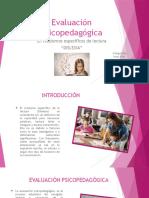 Evaluación Psicopedagógica en La Lectura