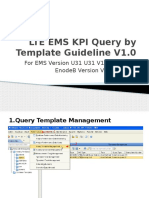 ZTE LTE EMS KPI Query by Template Guideline V1.0