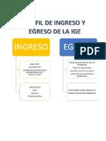 Perfil de Ingreso y Egreso de La Ige