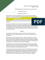 Relaciones y Aportaciones de La Psicología a La Educación 080815