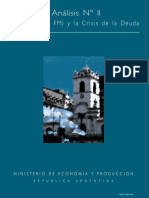 Argentina FMI y Crisis de La Deuda