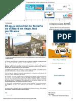 El Agua Industrial de Taquiña