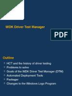 WDKDriver Test Manager