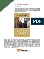 Kashmir the Vajpayee Years by a s Dulat Aditya Sinha.pdf