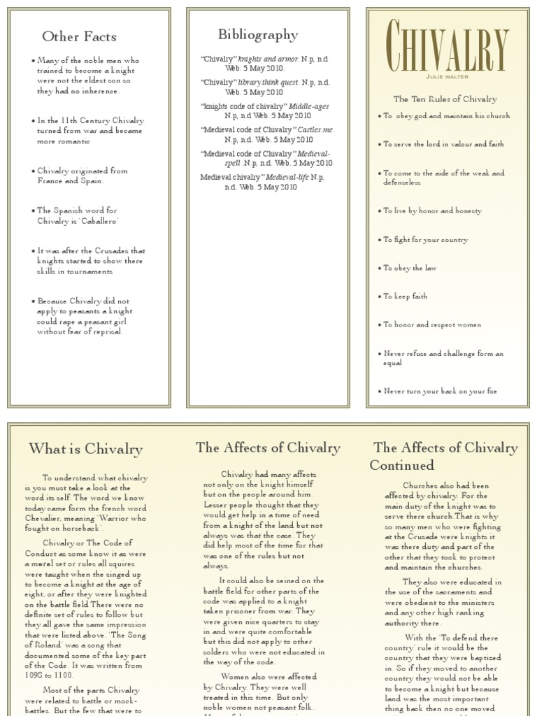 chivalric code of conduct
