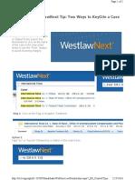 Westlaw KeyCite a Case