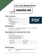 Mocha AE CC Release Notes