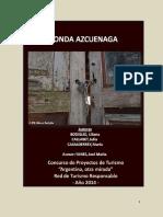 """Fonda Azcuenaga – Concurso de Proyectos de Turismo """"Argentina, Otra Mirada"""""""
