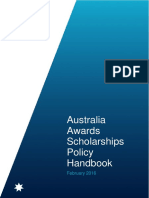 Australian Awards Scholarships Policy Handbook