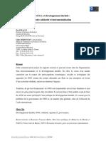 FOLACCI Eric - MAROUSEAU Gilles - OnG Et Développement Durable Entre Solidarité Et Instrumentalisation