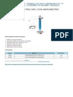 Termodensimetro Gpl Con Aerometro Estraibile