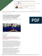 Visita de Bolsonaro Ao Recife é Marcada Por Declarações Controversas e Tumulto - Jornal Do Commercio