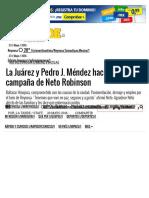 05-20-2016 La Juárez y Pedro J