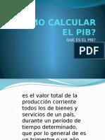 Como Calcular El Pib