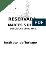 Sala Reservada