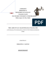 The Ampatuan Maguindanao Massacre Final Paper