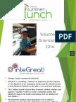 Summer Lunch 2016 Volunteer Orientation With Audio