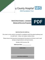 H&N Laryngectomy ERAS pathway - Bedside Notes Version 2