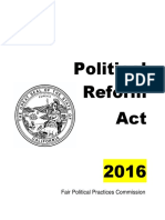 Political Reform Act 2016