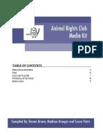 animal rights club media kit