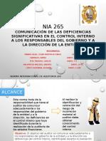 Nia 265- Comunicacion de Deficiencias Significativas