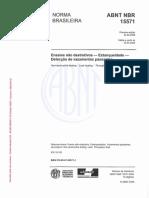 NBR-15571- Ensaio de Estanqueidade