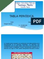 Tabla Periódica de Los Elementos Químicos.