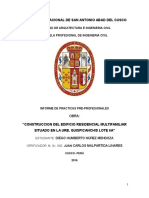 Informe de Practicas Pre Profesionales ingenieria civil Diego Nuñez Mendoza