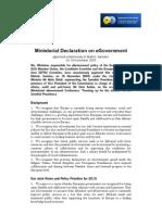Ministerial Declaration on Egovernment - Malmö