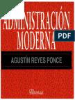 Administración Moderna - Agustín Reyes Ponce - Modificado