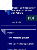 Effect of Self-Regulatory Education on Women With Asthma-