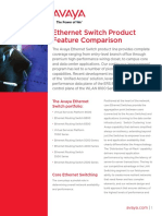 Ethernet Switch Product Feature Comparison
