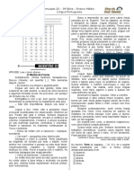 Simulado 22 - (Port. 3ª Série E.M - Blog Do Prof. Warles)