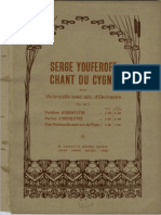 Chant Du Cygne for Cello and Orchstra Op43 No1 Color Cover
