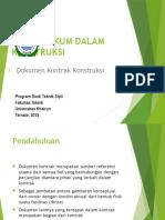 11. Dokumen Kontrak Proyek Konstruksi 2015.pptx