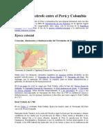 Conflicto Limítrofe Entre El Perú y Colombia