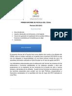Primer informe de fiscalía del CEAAL