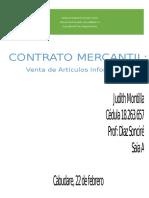 Contrato Mercantil ejemplo