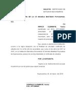 Solicito Certificado de Estudios Yanina