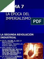 Tema 7 La Época Del Imperialismo y I Guerra Mundial