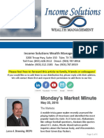 Monday's Market Minute - 05-23-16