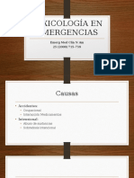 Toxicología en Emergencias