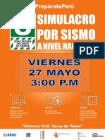Afiche Simulacro 27 Mayo 2015