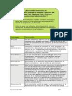 Conceptos Básicos de Normas Comunes de Los Procesos Civiles_Registro Civil y Contencioso-Administrativo (GLOSARIO)