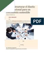 Cómo Estructurar El Diseño Organizacional Para Un Crecimiento Sostenible