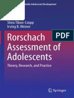 Tibon-Czopp & Weiner (2016) the Rorschach Inkblot Method Research