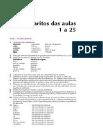 Telecurso 2000 - Química - Gabaritos 01 a 25