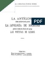 Antigona de Sofocles