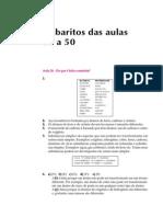 Telecurso 2000 - Química - Gabaritos 26 a 50