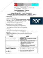 4 15abr Proceso CAS N 111 Técnicos Administrativos en Almacén